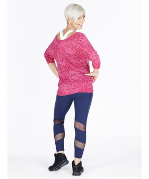 Denichi C10 Raspberry Burnout Slouch Top