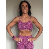 Posto9 Shanti Pink Leopard Yoga Bra