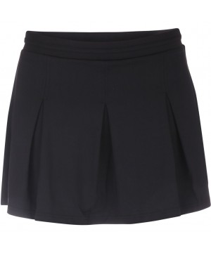 Pure Lime 7118 Box Pleat Skort - Black