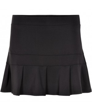 Pure Lime 7233 Kick Pleat Skort - Black