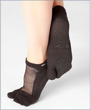 Shashi Classic Split Toe Grip Socks Black
