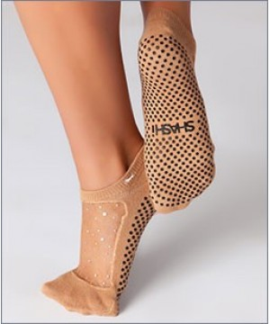 Shashi Star Regular Toe Grip Socks Nude