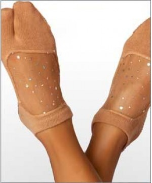 Shashi Star Split Toe  Grip Socks Nude