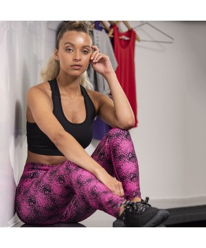 Step n Pump Essentials Print Leggings- Speckled Pink