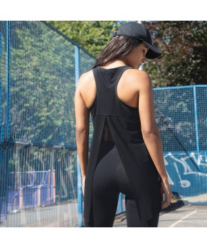 Step n Pump Essentials Black Open Back Vest