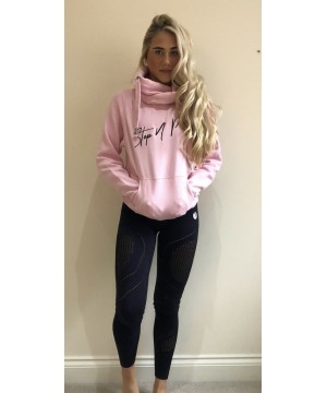 Step n Pump Essentials Baby Pink With Black Cross Neck Cosy Hoodie