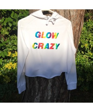 Step n Pump Essentials White Glow Crazy Cross Back Hoodie