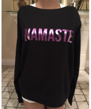 Step n Pump Essentials Black Namaste Slounge Top With Purple Logo