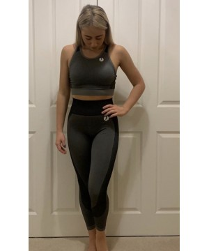 Step n Pump Essentials Seamless Panelled Grey-Black Leggings