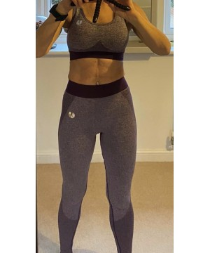 Step n Pump Essentials Purple Seamless Sculpt Shaping Leggings