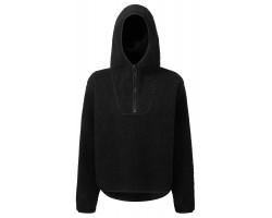 Step n Pump Essentials Black Sherpa Fleece 1/4 Zip Hoodie