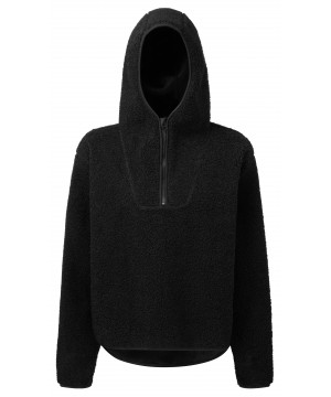 Step n Pump Essentials Black Sherpa Fleece 1/4 Zip Hoodie
