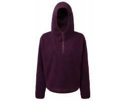 Step n Pump Essentials Mulberry Sherpa Fleece 1/4 Zip Hoodie