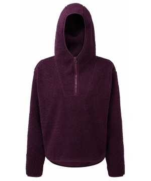 Step n Pump Essentials Mulberry Sherpa Fleece 1/4 Zip Hoodie