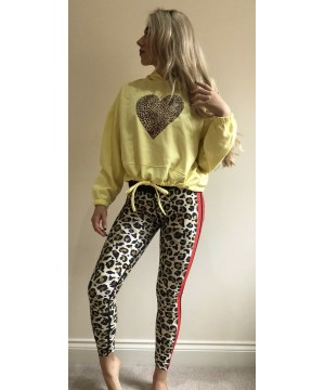 Step n Pump Essentials Lemon Leopard Heart Hoodies