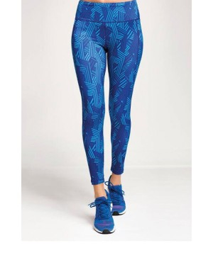 Step n Pump Essentials Performance Crossline Leggings - Blue Geo