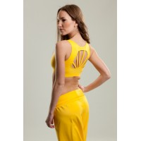 Step n Pump SP299 Fan Shape Back Crop Top