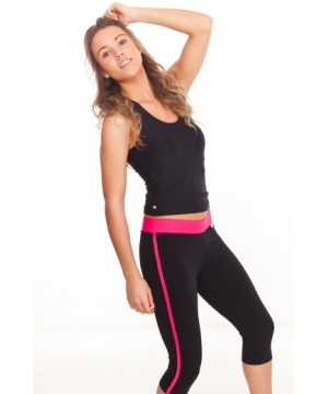 Step n Pump SP409 Capri with Contrast Flat Waistband & Side Stripe