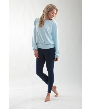 Step n Pump SP294 Long Sleeve Dance Top with Low V Back
