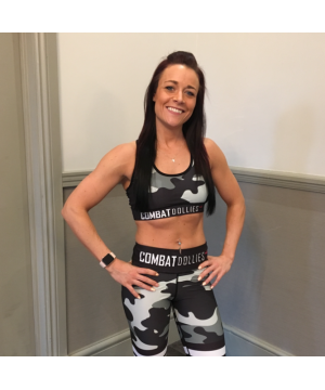 Combat Dollies Camo 3 Stripes Sports Bra