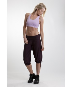 Step n Pump SP161 Fold Down Waist Harem Pants With Tie Details To Leg