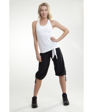 Step n Pump SP290 Loose Top With Racer Back And Tie Hem With Support