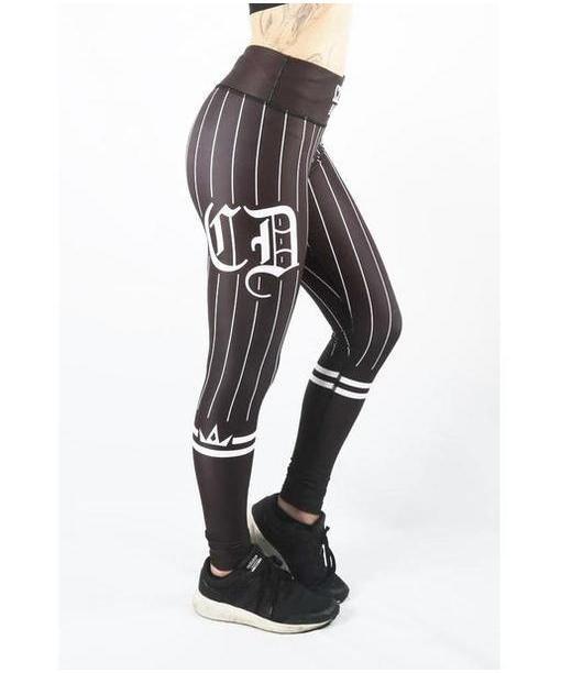 Combat Dollies Baseball Fitness Leggings Black//Black