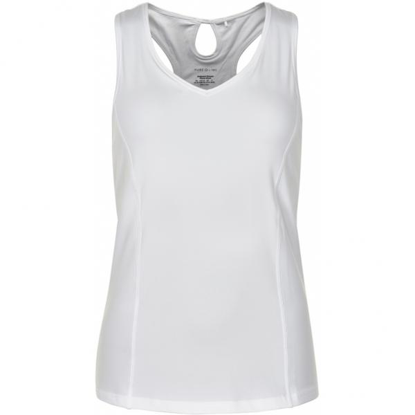 Pure Lime 3578 Racer Back Tank - White