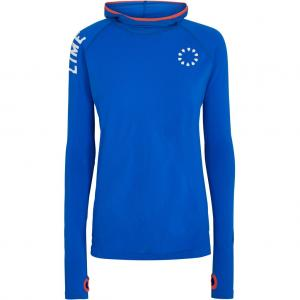 Pure Lime 2883 Seamless Long Sleeve Hoodie - Lapis Blue