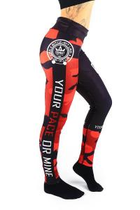Combat Dollies Red Camo Fitness Leggings