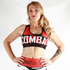 Combat Dollies Red Camo Sports Bra