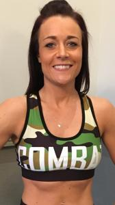 Combat Dollies Green Camo Sports Bra
