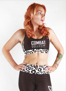 Combat Dollies White Leopard Sports Bra