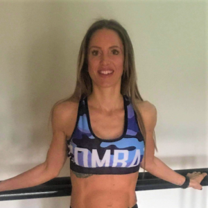 Combat Dollies Blue Camo Sports Bra