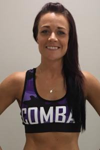 Combat Dollies Purple Camo Sports Bra