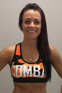 Combat Dollies Orange Camo Sports Bra