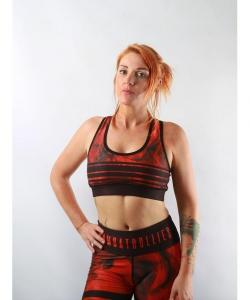 Combat Dollies Red Tribe Sports Bra
