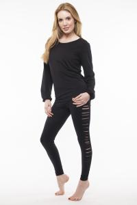 Step n Pump SP411 Slashed Side Leggings