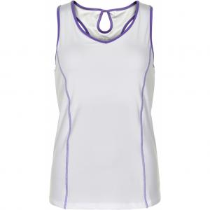 Pure Lime 3578 Racer Back Tank - White/Purple