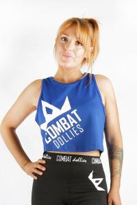 Combat Dollies Royal Blue Cropped Vest