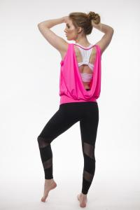 Step n Pump SP292 Dance Top With Deep Cowl Back